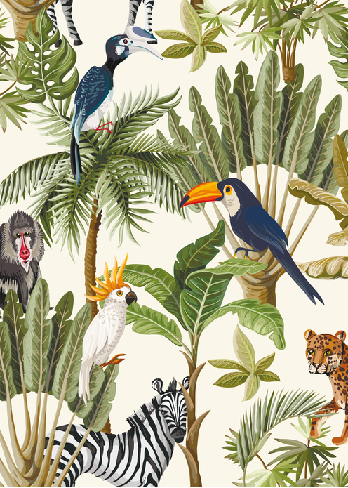 Poster Jungle 50x70 voor