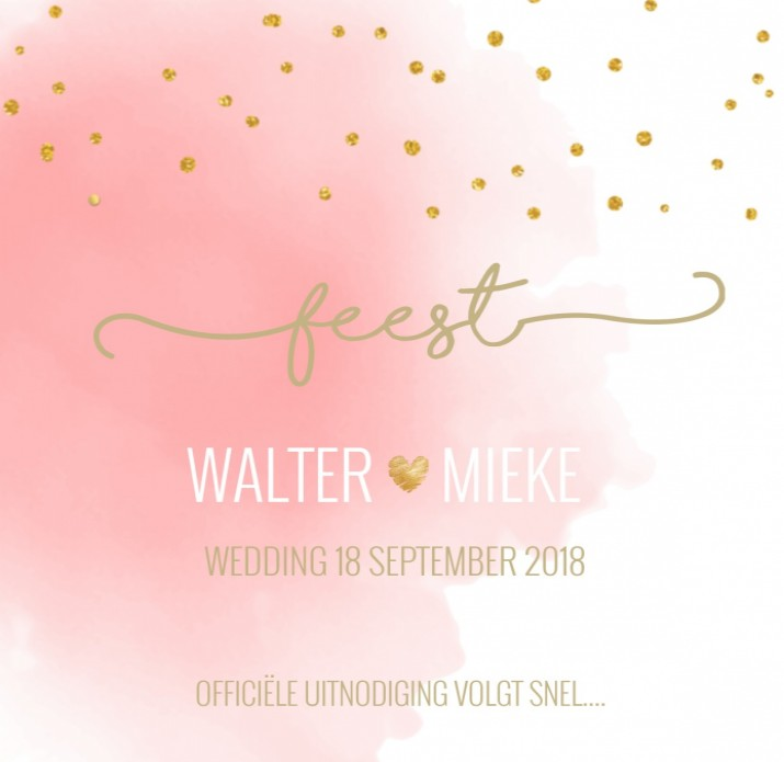 Save the date Walter en Mieke voor