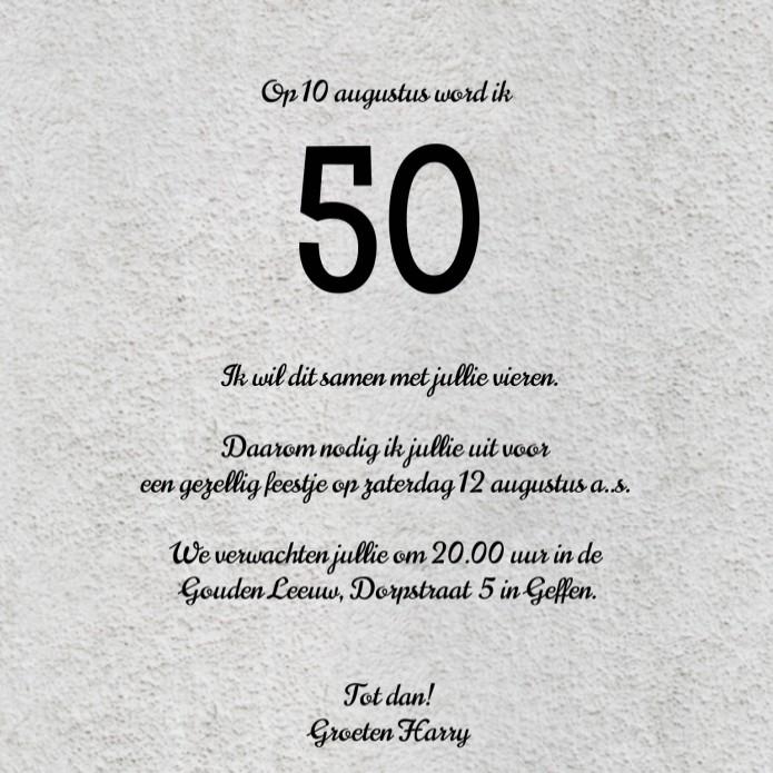 wordt 50 jaar Ik Word 50 Jaar Uitnodiging   ARCHIDEV wordt 50 jaar