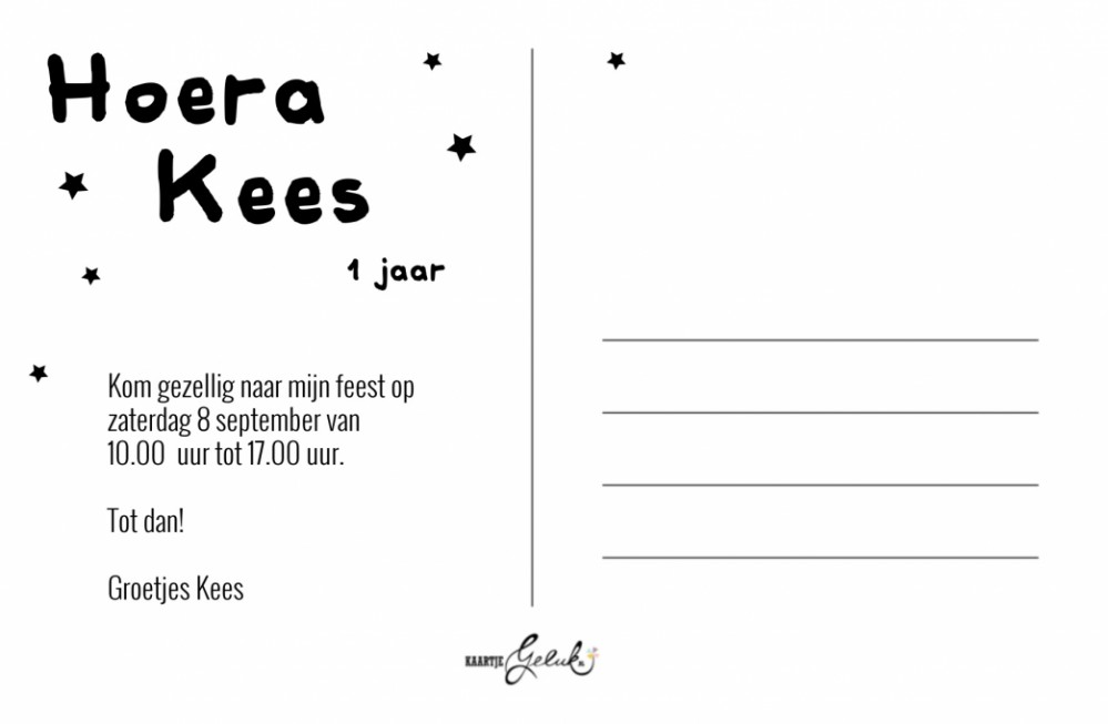 Uitnodiging Kees achter