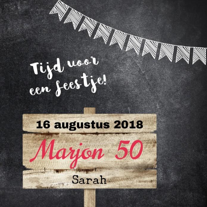 Verwonderlijk Uitnodiging Marjon 50 jaar VG-25