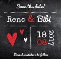 Save the date Rens en Bibi voor
