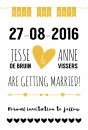 Save the date Jesse en Anne voor