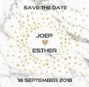 Save the date Joep en Esther voor